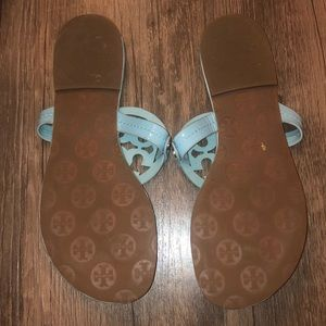Tory Burch Shoes - Tory Burch Turquoise Millers Sandals Size 8 VGUC
